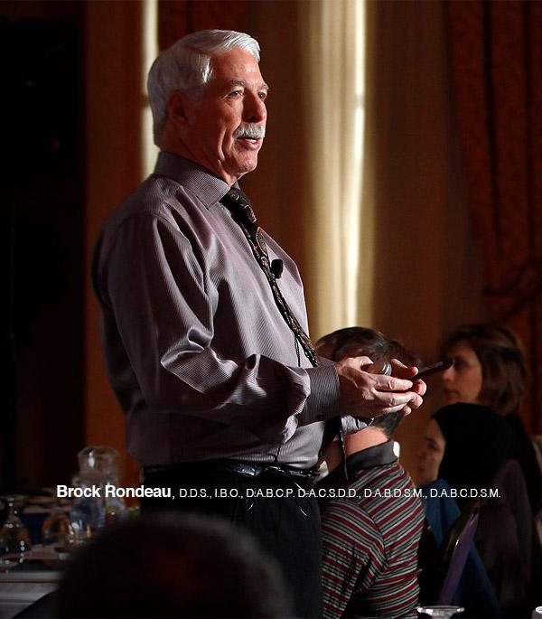 Dr. Brock Rondeau at a seminar speaking